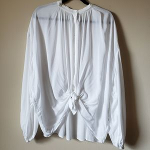 H&M white long sleeve blouse size 18 NWT